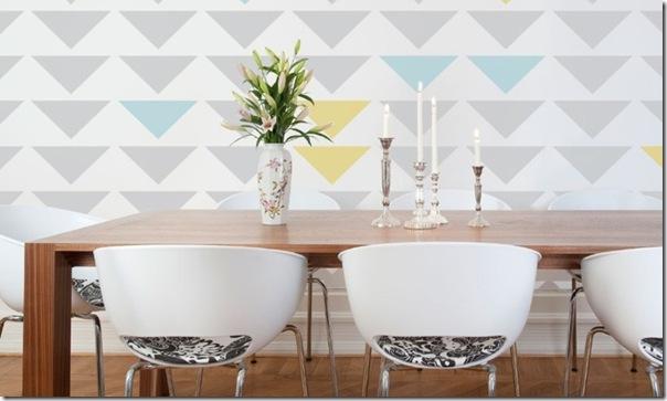 diy] decorare la casa: tendenza triangoli - case e interni - Disegni Su Pareti Soggiorno 2