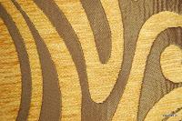 Tkanina obiciowa w stylu lat 60-tych, 70-tych. Żółta.