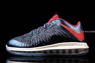 nike lebron 10 low gr usa basketball 1 06 Nike Air Max LeBron X Low in Classic USAB Colors (579765 400)