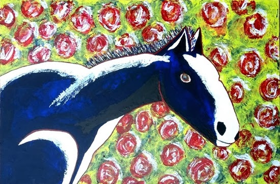 chris dale blue horse