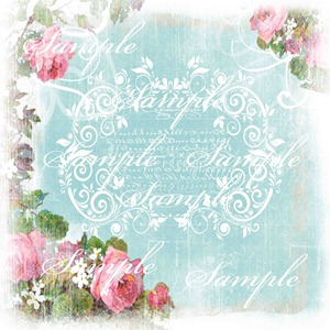 Vintage Rose Border sample