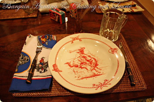 red plac stg & BARGAIN DECORATING WITH LAURIE: THE COWBOY RIDES AGAIN!