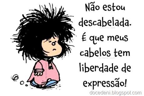 Mafalda descabelada.