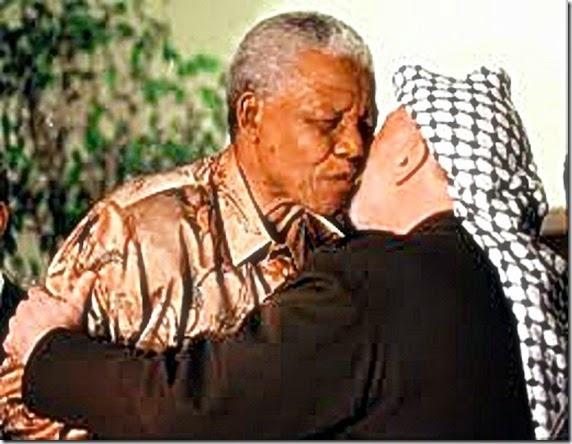 Mandela & Arafat in embrace
