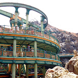 Mysterious Island waiting line at Journey to the center of the earth at Tokyo DisneySea in Urayasu, Tiba (Chiba) , Japan