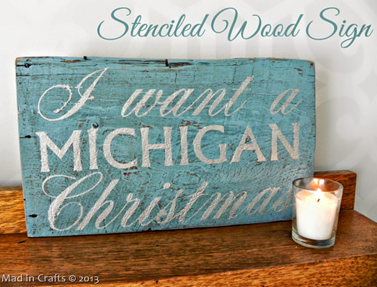 Simple Stenciled Wood Sign