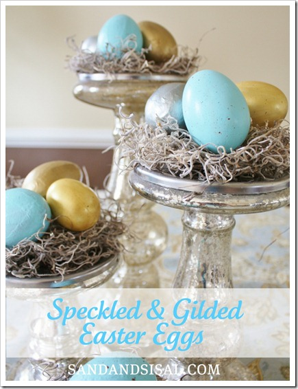 speckled guilded easter eggs
