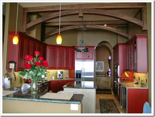 Kitchen-cabinet-painting-colors-ideas-red
