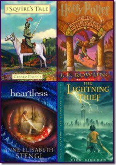 fantasy author book collage