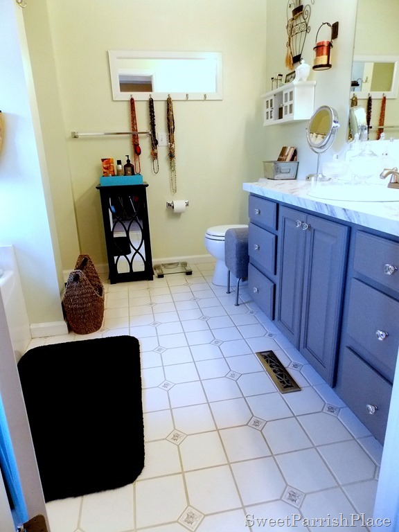 Master Bathroom with painted vanity