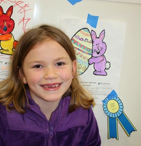 Capri took first in coloring contest