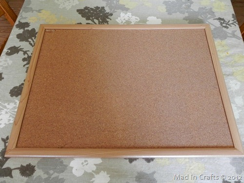 glittered cork board before
