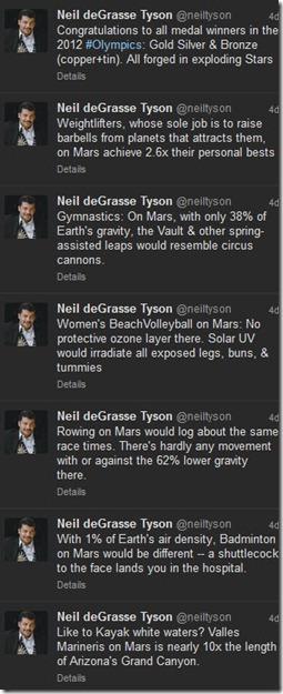 Neil deGrasse Tyson y Juegos Olímpicos