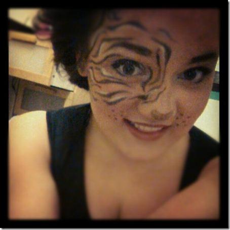 maquillaje de tigre (4)