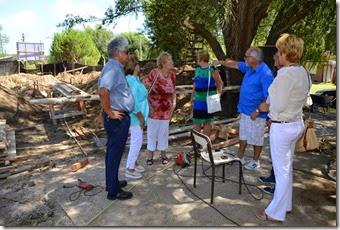 Concjales y consejeros escolares visitaron obra del jardín de infantes de Las Toninas