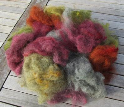 Pommernwolle pflanzengefärbt