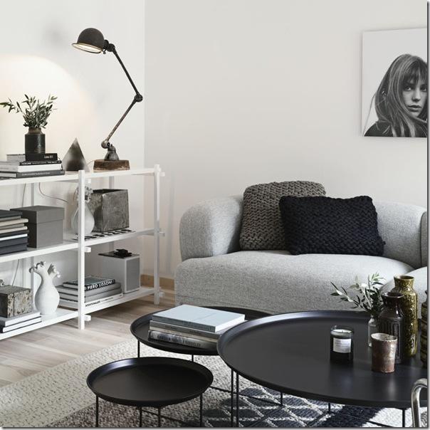 case e interni - stile minimal contemporaneo - grigio - legno decapato (2)