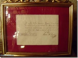 Recibo del pago a Goya por el retrato de Fernando VII - Palacio de Navarra