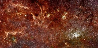 núcleo galáctico em infravermelho
