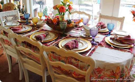 Merveilleux THANKSGIVING TABLE FOR EIGHT. Thanksgiving Table Bargain Decorating With  Laurie