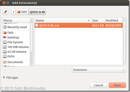 Add Extension Qioo