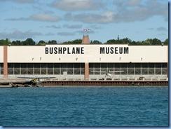 5079 Michigan - Sault Sainte Marie, MI -  St Marys River - Soo Locks Boat Tours - shoreline on Canadian side, the Bushplane Museum