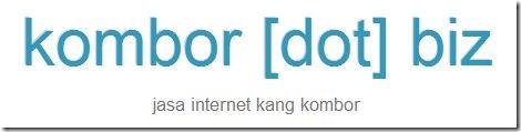 jasa internet kang kombor