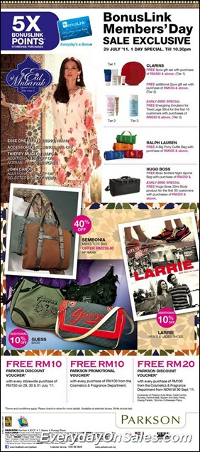 Parkson-Bonuslink-Members-Day-2011-EverydayOnSales-Warehouse-Sale-Promotion-Deal-Discount