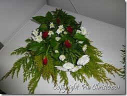 Hjemmelavet bårebuket til december 2012