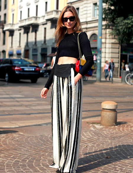 Wide leg pants with high heels 1