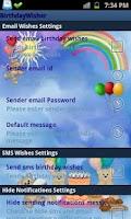 Screenshot of Automatic Birthday Wisher