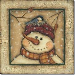 ChristmasSnowmanwithbirdonhat