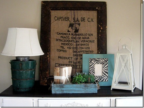 framed coffee sack