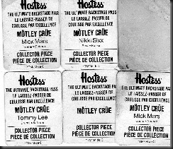 Motley Hostess Chip Stickers, 1987-002