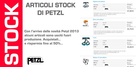 Acquista Petzl stock su Bshopzone.com