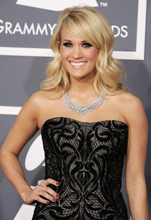 Carrie Underwood wearing OPI at the Grammys