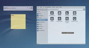 Skippy-XD - Exposè in Lubuntu Linux