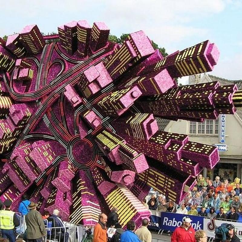 Magnificent Flower Sculptures at Bloemencorso Zundert Flower Parade