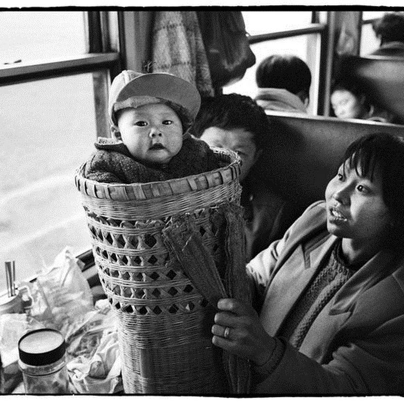 Chinese People on Trains by Wang Fuchun