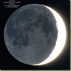 26 January 2012 Earthshine