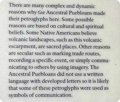 Petroglyphs sign