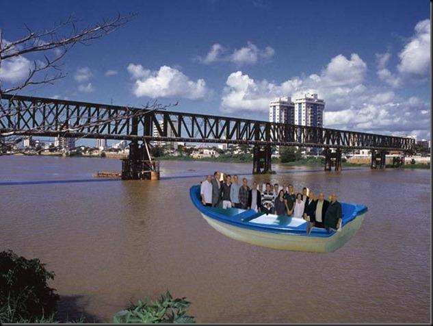 frente a deriva no rio
