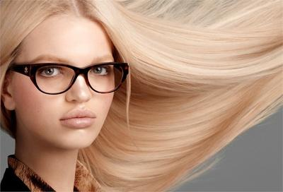 Trendy hipster glasses paired with a timeless hairstyle