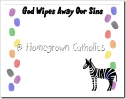 Wipes away my sins board - fingerprints