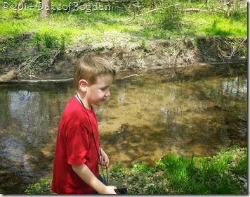 caleb and the creek