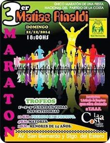 Maratón homenaje a Matías Rinaldi