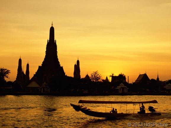 pemandangan Bangkok, ibukota Thailand