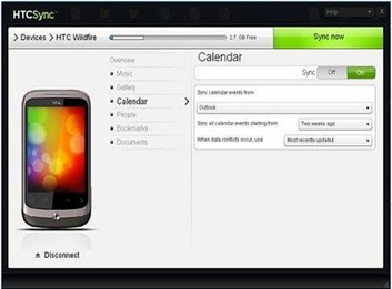 HTC Sync Software