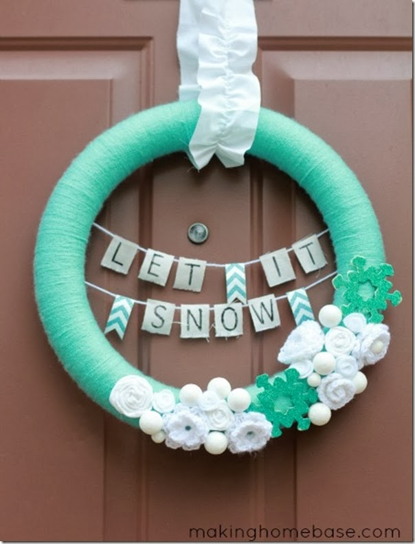 case e interni - decorazioni natalizie fai da te - diy - ghirlanda 1