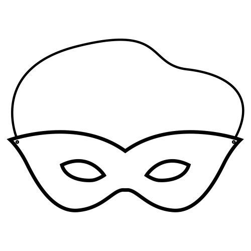 Molde de antifaz para niños - Imagui